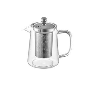 Bule Para Chá Em Vidro E Aço Inox com Infusor 700ml