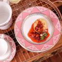 Aparelho de Jantar E Chá 30 Peças Flamingo Macramê