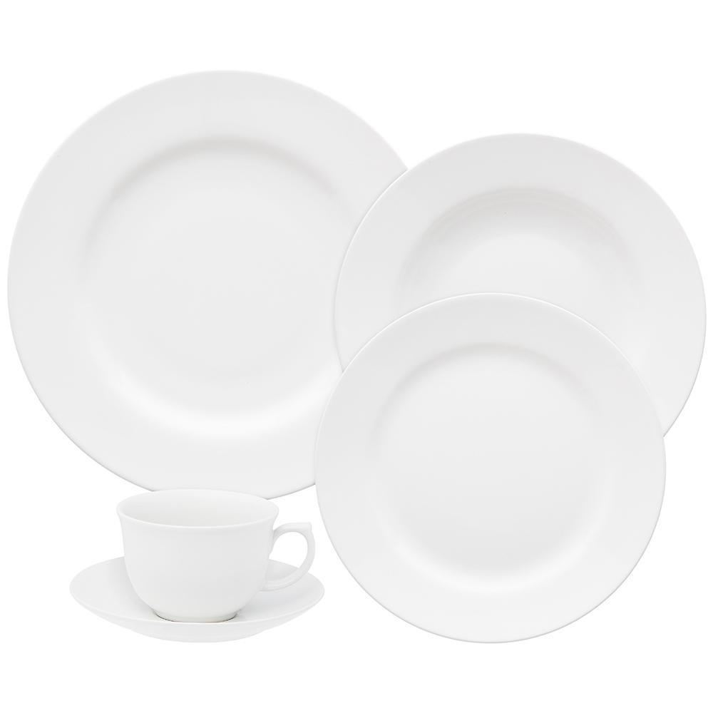 Aparelho de Jantar E Chá 30 Peças Flamingo White