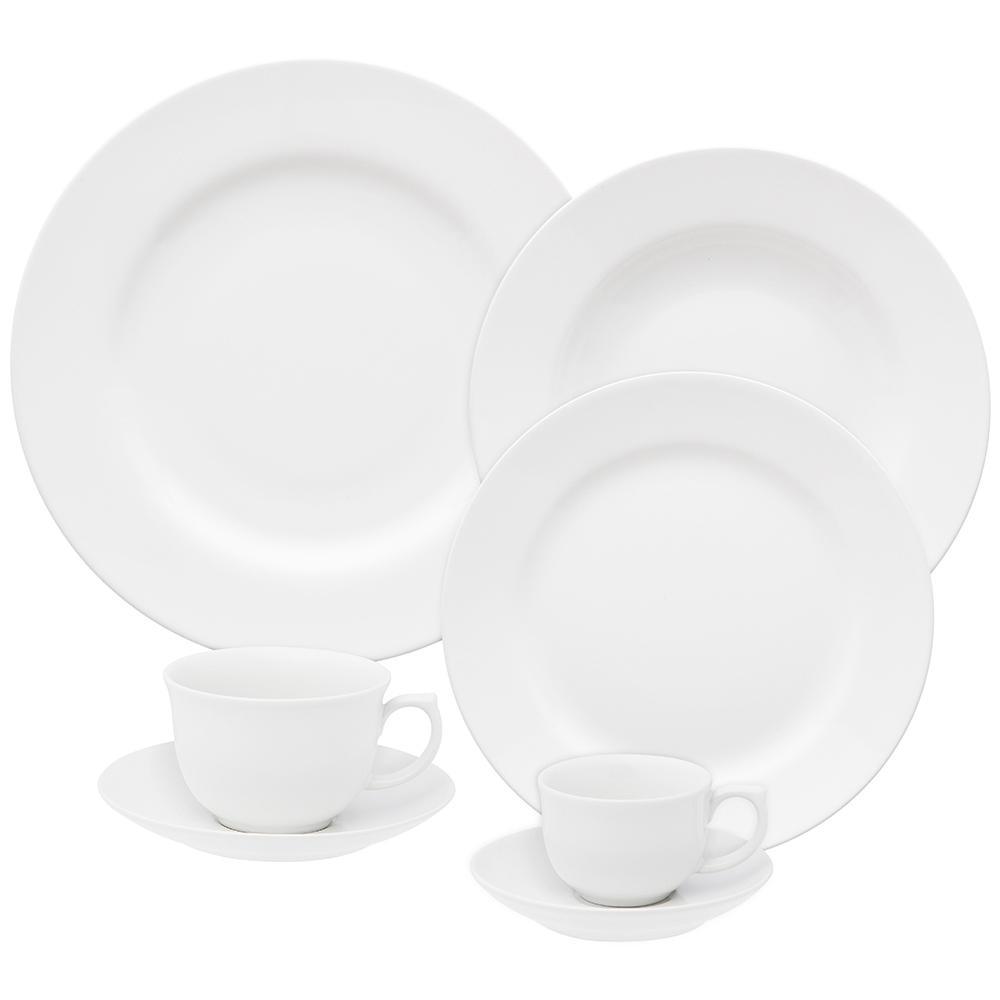 Aparelho de Jantar Chá E Café 42 Peças Flamingo White