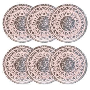 Conjunto de 6 Pratos Rasos 26cm Unni Elo