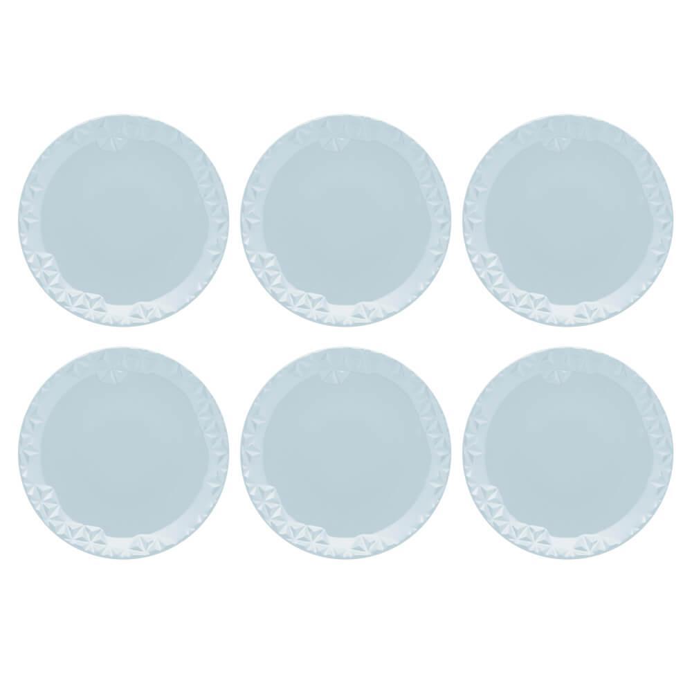 Conjunto de 6 Pratos Sobremesa 21cm Mia Cristal