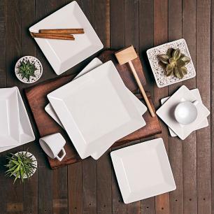 Aparelho de Jantar E Chá 30 Peças Quartier White