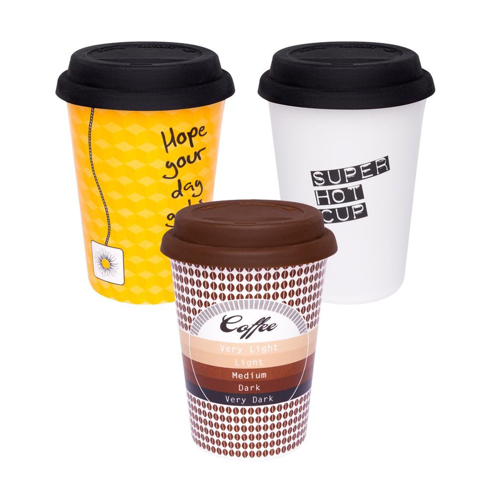 Conjunto de 3 Copos Trip 300ml Café/Chá/Super