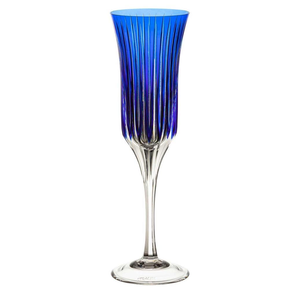 Taça de Cristal Strauss Champagne 190ml - Azul Escuro - 225.107.150.012