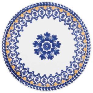Conjunto de 6 Pratos Rasos 26cm Floreal La Carreta