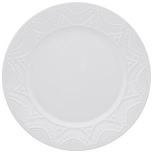 Conjunto de 6 Pratos Rasos 26cm Serena White