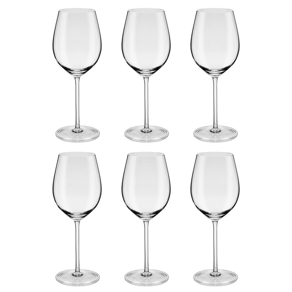 Jogo de 6 Taças de Cristal Vinho Chardonnay 510ml