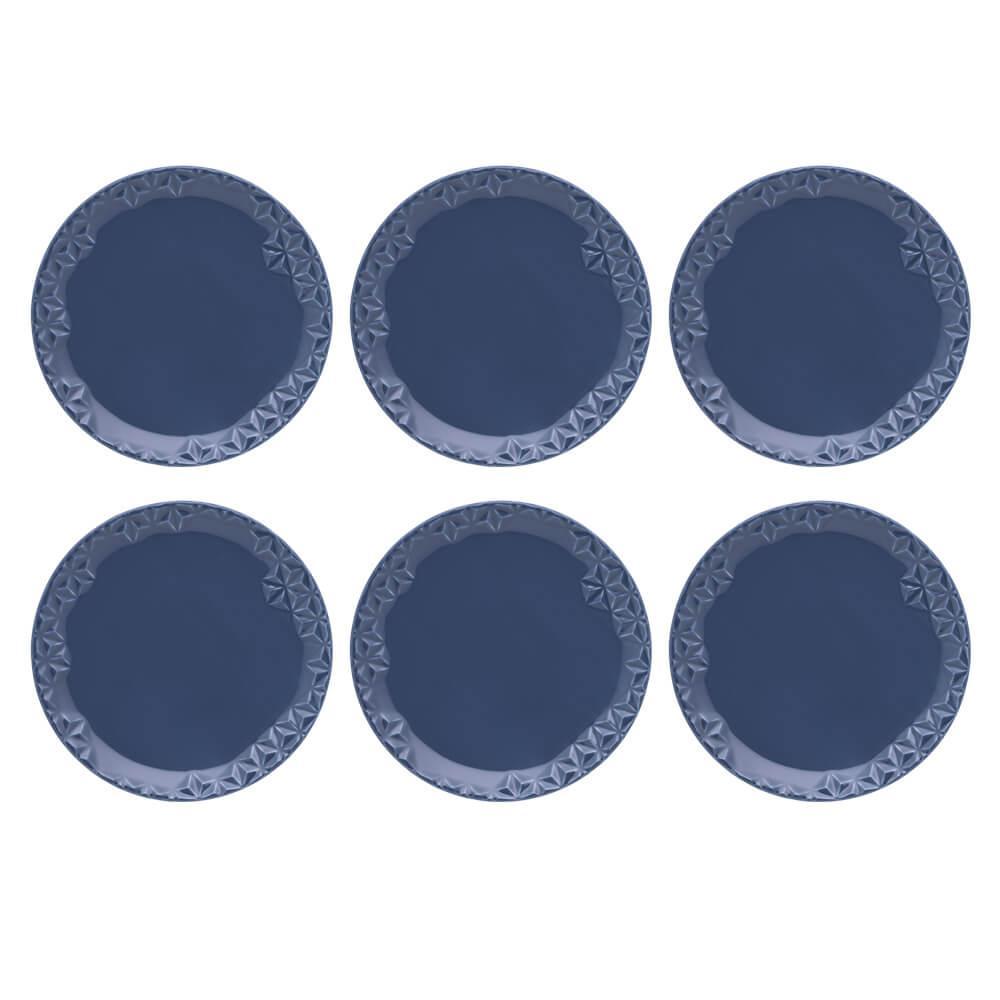 Conjunto de 6 Pratos Sobremesa 21cm Mia Mare