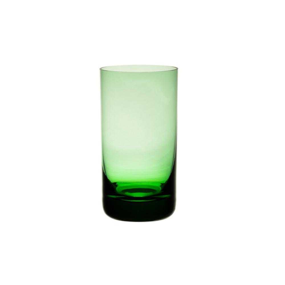 Jogo de 6 Copos Coloridos De Cristal Água 235ml Verde Claro