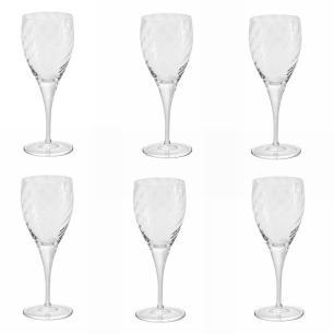 Jogo de 6 Tacas De Cristal Vinho Branco 310ml Twist