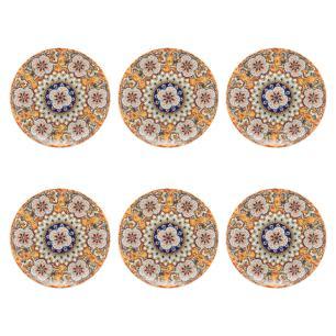 Conjunto de 6 Pratos Sobremesa 19cm Unni Castello