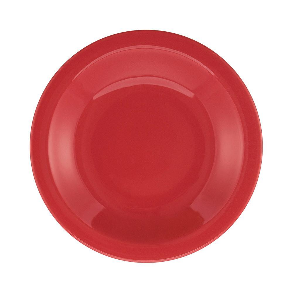 Conjunto de 6 Pratos Fundos 23cm Floreal Red