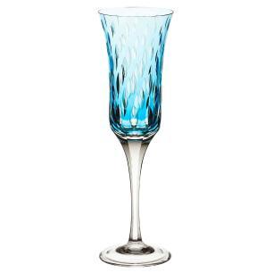 Taça de Cristal Strauss Champagne 190ml - Azul Claro - 225.107.152.016