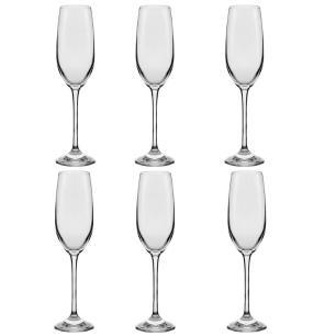Conjunto de 6 Taças De Cristal Espumante 205ml Play Classic