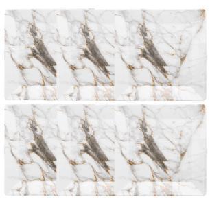 Conjunto de 6 Pratos Rasos 26,5x26,5cm Quartier Golden Stone