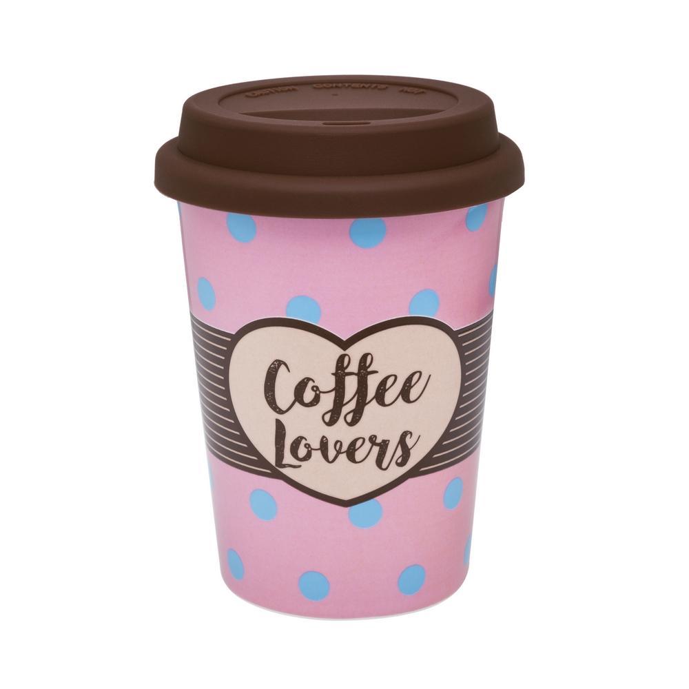 Conjunto de 6 Copos Trip 300ml com tampa Coffee Lovers