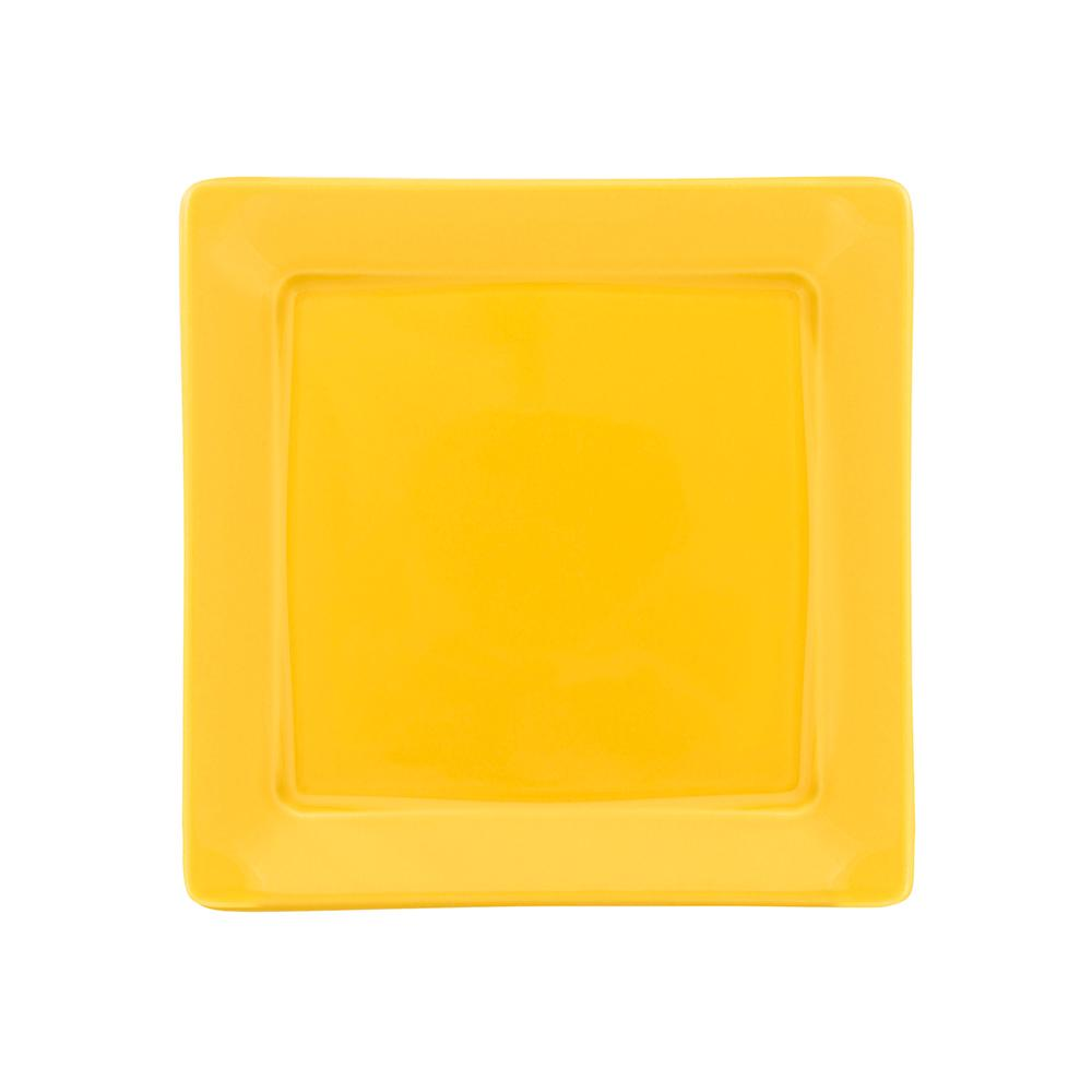 Conjunto de 6 Pratos Sobremesa 21x21cm Nara Yellow