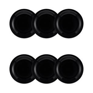 Conjunto de 6 Pratos Sobremesa 20cm Floreal Black