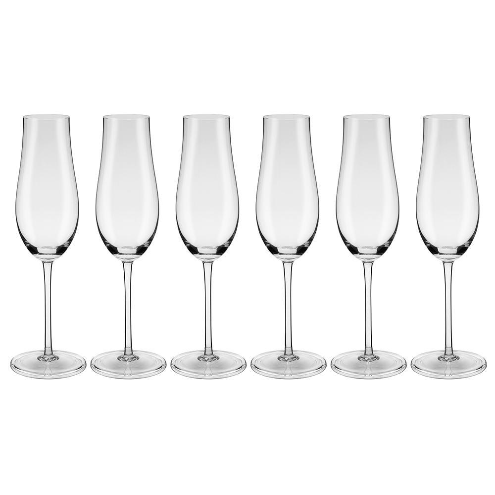 Conjunto de 6 Taças de Cristal Espumante 230ml Classic
