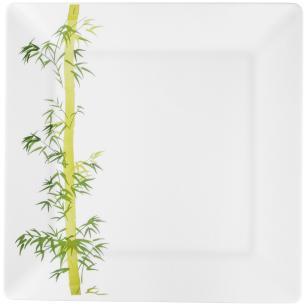 Conjunto de 6 Pratos Rasos 26,5x26,5cm Quartier Bamboo