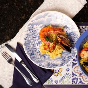 Aparelho de Jantar E Chá 30 Peças Actual Cena Inglesa