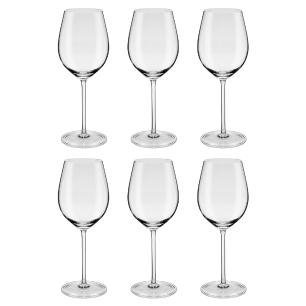 Jogo de 6 Taças de Cristal Vinho Brunello D Montalcino 610ml