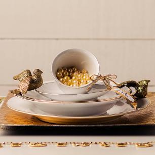 Aparelho de Jantar E Chá 30 Peças Flamingo Sofia