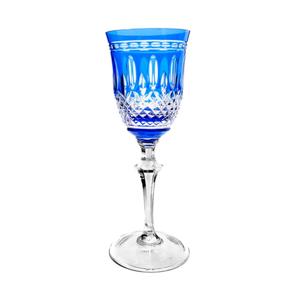 Taça de Cristal Strauss Vinho Branco 310ml - Azul Escuro - 237.103.068.012