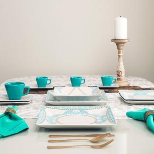 Aparelho de Jantar E Chá 20 Peças Quartier Domo