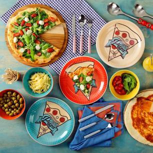 Conjunto Prato Pizza 26cm Sortido 3 Peças