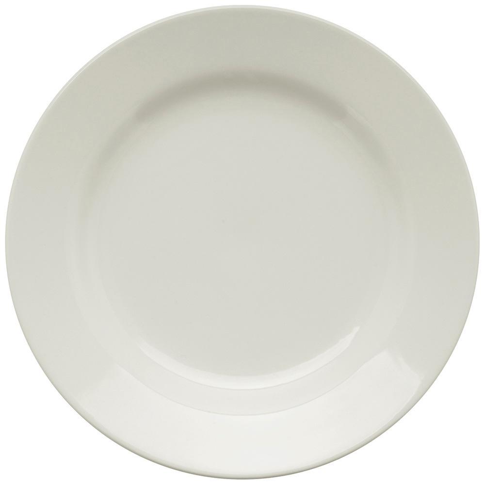 Conjunto de 6 Pratos Rasos 24cm Donna Branco