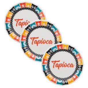 Conjunto de 3 Pratos 26cm Tapioca