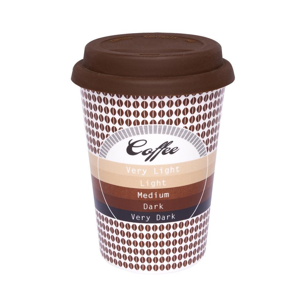 Conjunto de 6 Copos Trip 300ml c/ tampa Bebidas Quentes Café