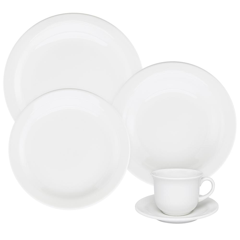 Aparelho de Jantar E Chá 30 Peças Floreal White