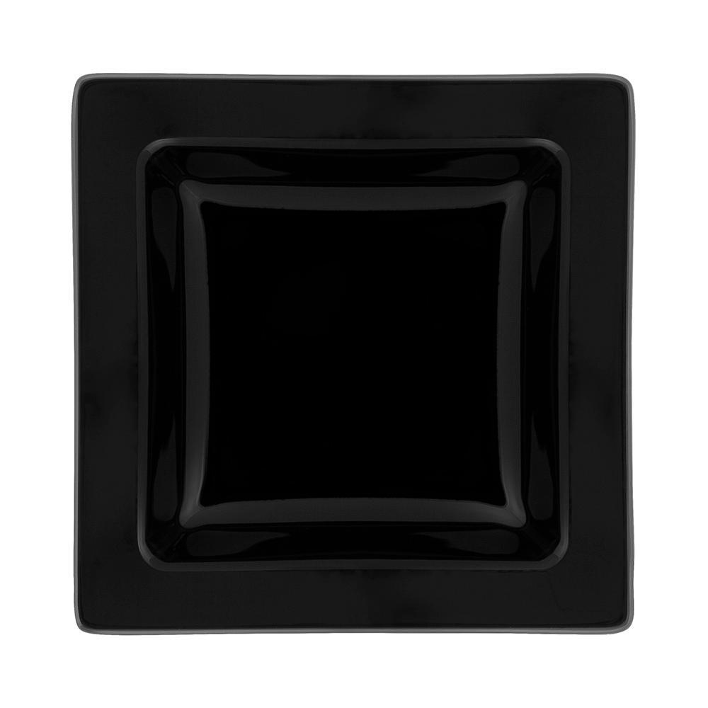 Conjunto de 6 Pratos Fundos 21x21cm Nara Black