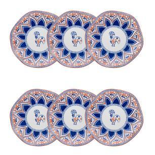 Conjunto de 6 Pratos Sobremesa 21,5cm Ryo Barcelos