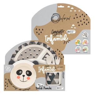 Conjunto Refeição Infantil 5 Peças Bebê Panda