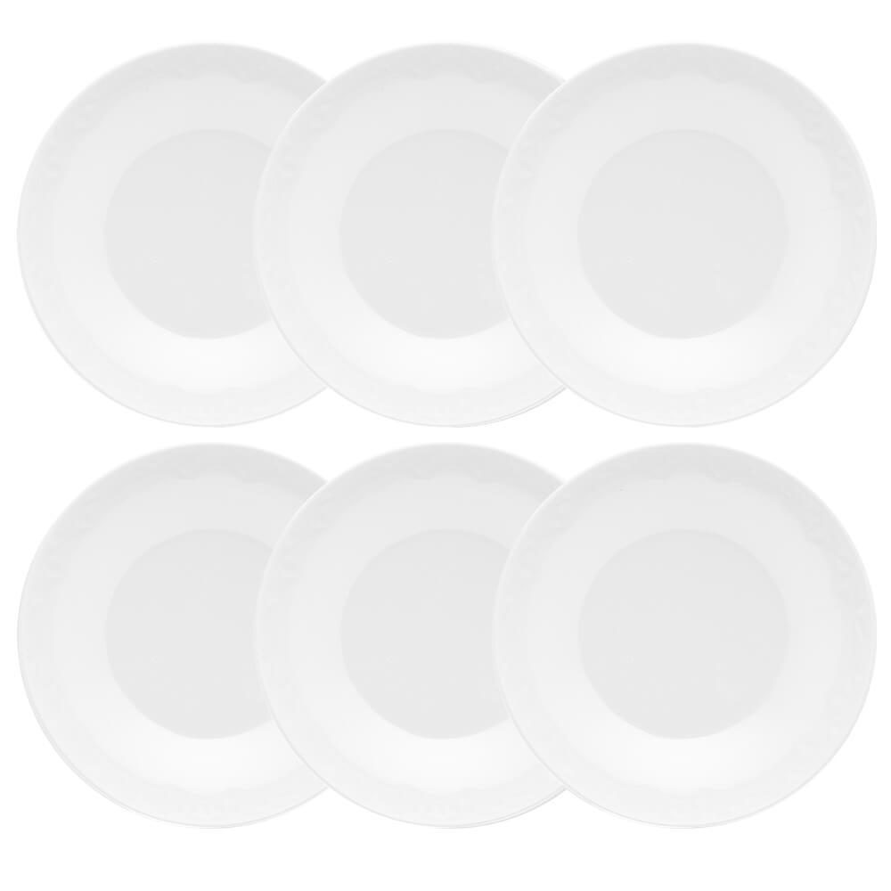 Conjunto de 6 Pratos Fundos 21cm Mia Pérola
