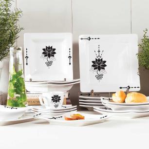 Aparelho de Jantar E Chá 20 Peças Nara Lótus
