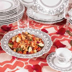 Aparelho de Jantar E Chá 30 Peças Soleil Henna