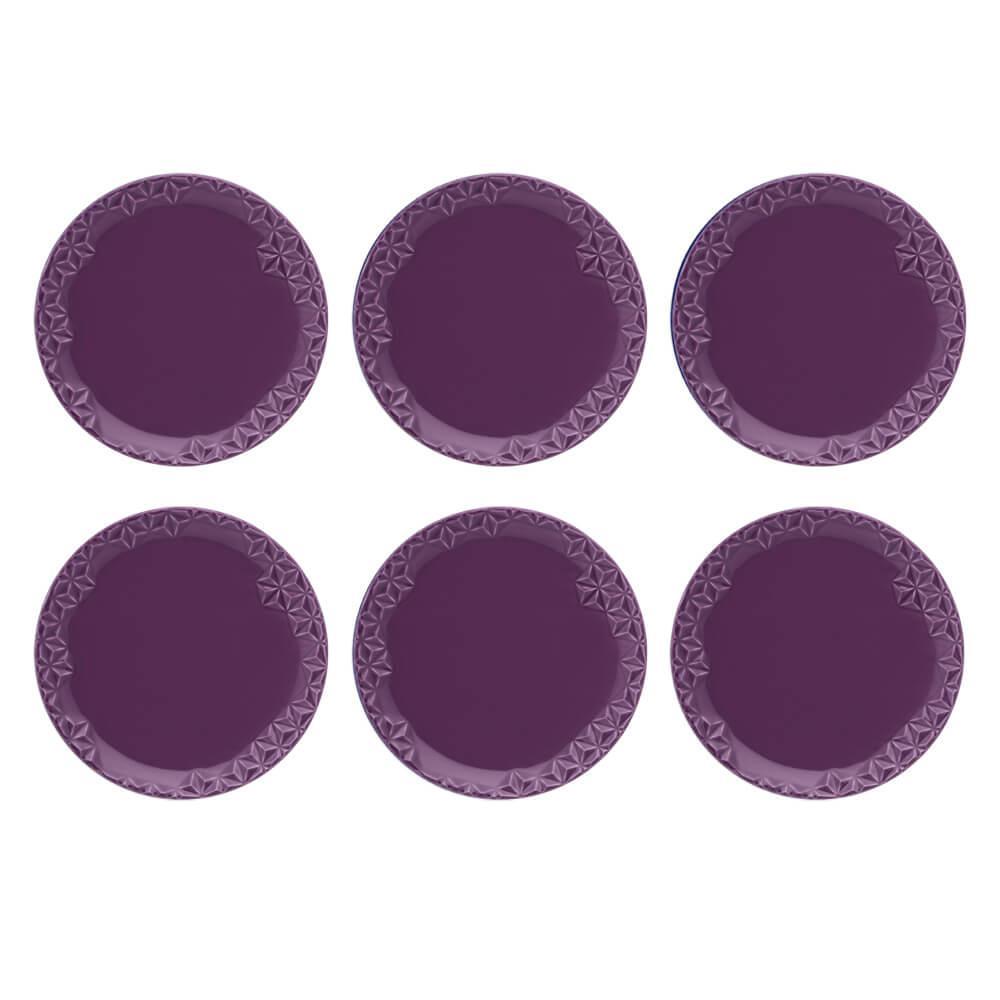 Conjunto de 6 Pratos Sobremesa 21cm Mia Estelar