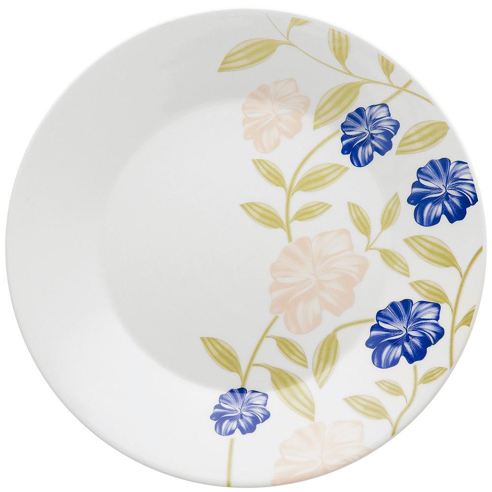 Conjunto de 6 Pratos Rasos 26cm Actual Azul Perfeito