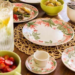 Aparelho de Jantar e Chá 30 peças Actual Jardim Tropical