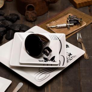 Aparelho de Jantar Chá E Café 42 Peças Quartier Tattoo