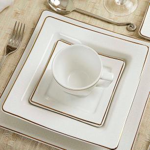 Aparelho de Jantar E Chá 30 Peças Nara Rendado