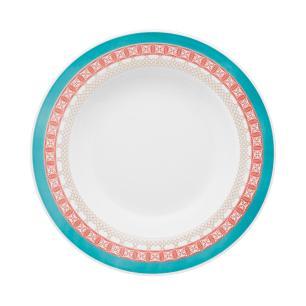Conjunto de 6 Pratos Fundos 23,5cm Flamingo Colors