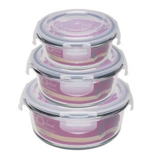 Conjunto De 3 Potes Herméticos De Vidro Redondos