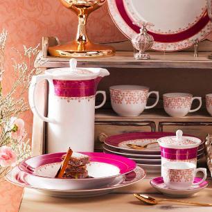Conjunto de 6 Pratos Rasos 28cm Flamingo Dama De Honra