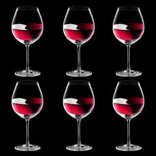 Jogo de 6 Taças em Cristal Strauss Bourgogne Pinot Noir 810ml - 192.685